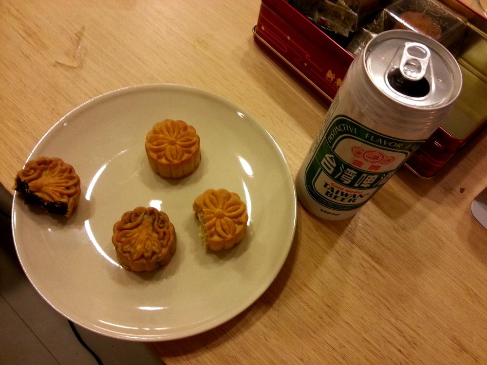 månekaker og taiwanesisk øl